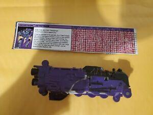 Vtg Hasbro Astrotrain G1 Transformers Action Figure Space Shuttle Train FREESHIP