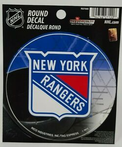 """Officially Licensed NHL New York Rangers Vinyl Decal Sticker 4.5"""" -Free Ship"""