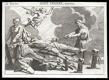 santino incisione 1800* S.VINCENZO DIAC. M.