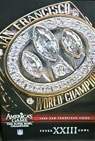 NFL  - San Francisco 49ers Super Bowl XXIII DVD,FOOTBALL NEW Same day FREE ship