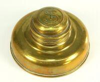 ! Antique Brass SWISS MADE Oil Lamp Burner Tank Kerosene