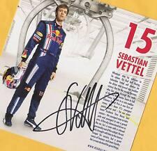 Sebastian VETTEL - SUPER AK Groß-Format 14x14 - signiert + AK Formel 1 - signed