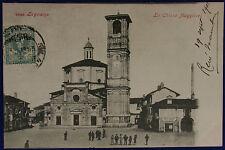 Legnano Chiesa Maggiore 900 viaggiata animata #13126