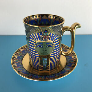 Compton and Woodhouse Cup and Saucer Golden Mask of Tutankhamun Egyptian Themed