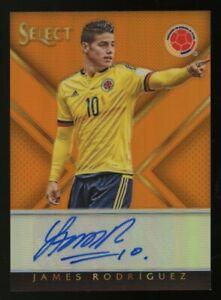 2015-16 Panini Select Orange Prizm James Rodriguez Spain AUTO 20/25