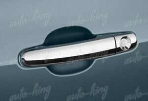 MIRROR CHROME DOOR HANDLE COVER CAPS FIT 09-15 CHEVY TRAVERSE/06-11 CHEVY HHR