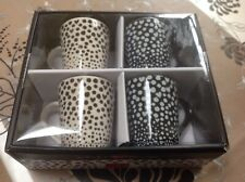 NEW Boxed Set Of Ben De Lisi  Espresso Cup / Mugs X 4,  7 Cm Tall Cups. £25 RRP