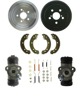 Brake Drums Shoes & Cylinders Kit Rear for TOYOTA Carolla 2003-08