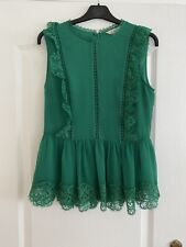 Ted Baker Green Sleeveless Top Size 2 Worn Once