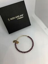 Alex And Ani Swarovski Crystal Gold Tone Bracelet With Purple Crystals NWOT