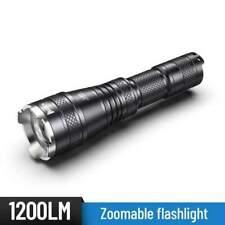 Flashlight ZOOM LENS , 1200 Lumens - from spotlight to floodlight - USB recharge