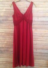 Donna Morgan Red Silk Spaghetti Strap Dress Sz. 6
