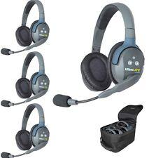 Eartec UltraLITE 4 user, Hands Free Intercom System - Double Ear Headsets