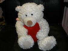 NEW Hallmark Heartly sound & motion Valentine's Day bear white plush