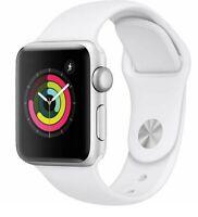 Apple Watch Series 3 38mm Silver Aluminum Case White Smartwatch - Fair