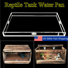 S/M/L Size Acrylic Pet Reptile Turtle Tank Clear Water Pan Holder Platform S1