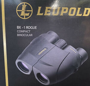 Leupold Rogue Compact Porro Prism Binocular - 10x25mm Black
