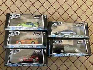 Greenlight Fast & Furious 1:43 Lot Of 5 Cars Very Rare