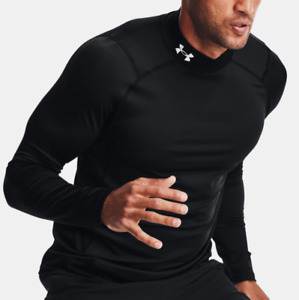 Under Armour Men's UA ColdGear Fitted Mock Long Sleeve. Black