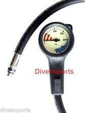 Gauge Low profile SPG and hose - SCUBA Diving - NEW