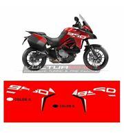 """Adesivi Grand Tour Design fiancate moto Ducati Multistrada 950 dal 2019 """"V863"""