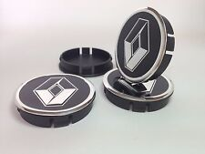 RENAULT 4pcs Plastic Wheel Centre Caps with Alu Emblem 60mm/55mm NEW