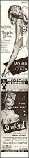 1947 vintage lingerie AD, Mojud Nylon Stockings and Starlight Bra  2 for1 112814