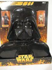 Star Wars ROTS Orange Darth Vader Carry Case w/Darth Vader and Obi-Wan 2005 New