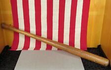 "Vintage Antique Wood Baseball Bat Weighted Swing Practice Bat 33"" Great Display!"