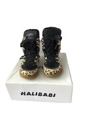 Kids Korean Fashion Leopard Print Trainers Boots EUR 28