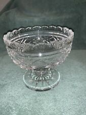 "Vintage Signed Waterford Crystal Footed Bowl master cutter 4.5"" diameter NO BOX"