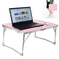 Foldable Laptop Notebook Table Adjustable Stand Bed Tray Computer Camping Desk