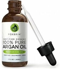 ORGANIC Pure Moroccan Argan Oil For Hair Skin Nails Vitamin E Antioxidants 2Oz.