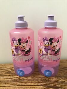2 Disney MINNIE MOUSE Water Bottle Snack Container DAISY DUCK Travel Cups Pink
