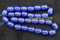 """Natural 10x12MM  Lapis Lazuli Rondelle Gemstone Loose Beads 15"""""""