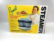 T-FAL EMERILWARE Emeril Lagasse Ultra-Fast Turbo Double Steamer NEW IN BOX!!