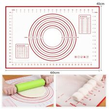 60 × 40cm Silikon Backmatte Silikonmatte Teigunterlage Teigmatte Ausrollmatte DE