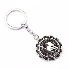 NEW Rotatable Fairy Tail Logo Metal Keychain Key Ring Pendant Anime Gift
