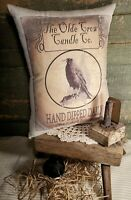 FOLK VINTAGE VICTORIAN PRIMITIVE ANTIQUE STYLE THE OLDE CROW CANDLE CO PILLOW