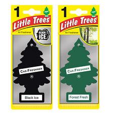 2 x Magic Tree Little Trees Car Air Freshener Scent BLACK ICE + FOREST FRESH
