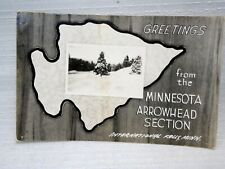 Greetings International Falls Arrowhead Section Minnesota Photo Postcard RPPC