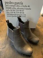 Pedro Garcia Women Justine Ankle Boot Size 36 Gray Leather Chelsea Pull On $595