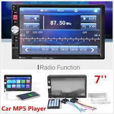 HD 7'' Touch Screen 2Din Car MP3 MP5 FM AUX Player Bluetooth Stereo Radio USB TF