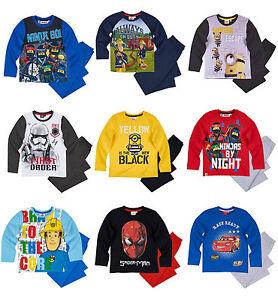 Boys Kids Official Licensed Disney Various Character Long Sleeve Pyjamas PJs 18
