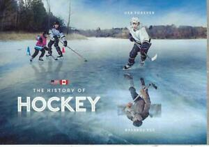 THE HISTORY OF HOCKEY   U.S. -CANADA.-   S/S/  2 STAMPS FOREVER