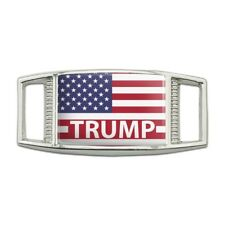 President Trump American Flag Rectangular Shoe Shoelace Tag Gym Charm