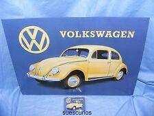 Volkswagen Beetle Metal Tin Advertising Sign &  Magnet Garage Classic Car Sign