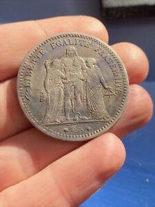 5 FRANCS ARGENT HERCULE 1877 K