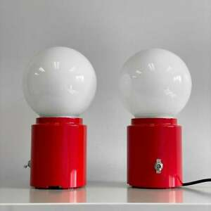 CylindAIR Switch Red Aviation Modern ART exit Glass Globe Accent Side Table Lamp