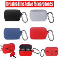 Etui de protection en silicone pour casque pour casque Jabra Elite Active75t